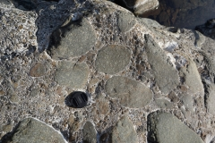 stones cemented with hyperalkaline waters